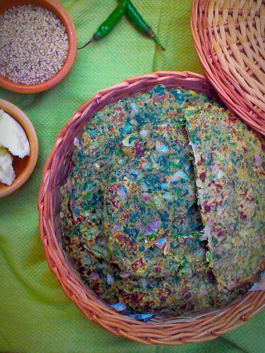 Bajra Roti with Spinach