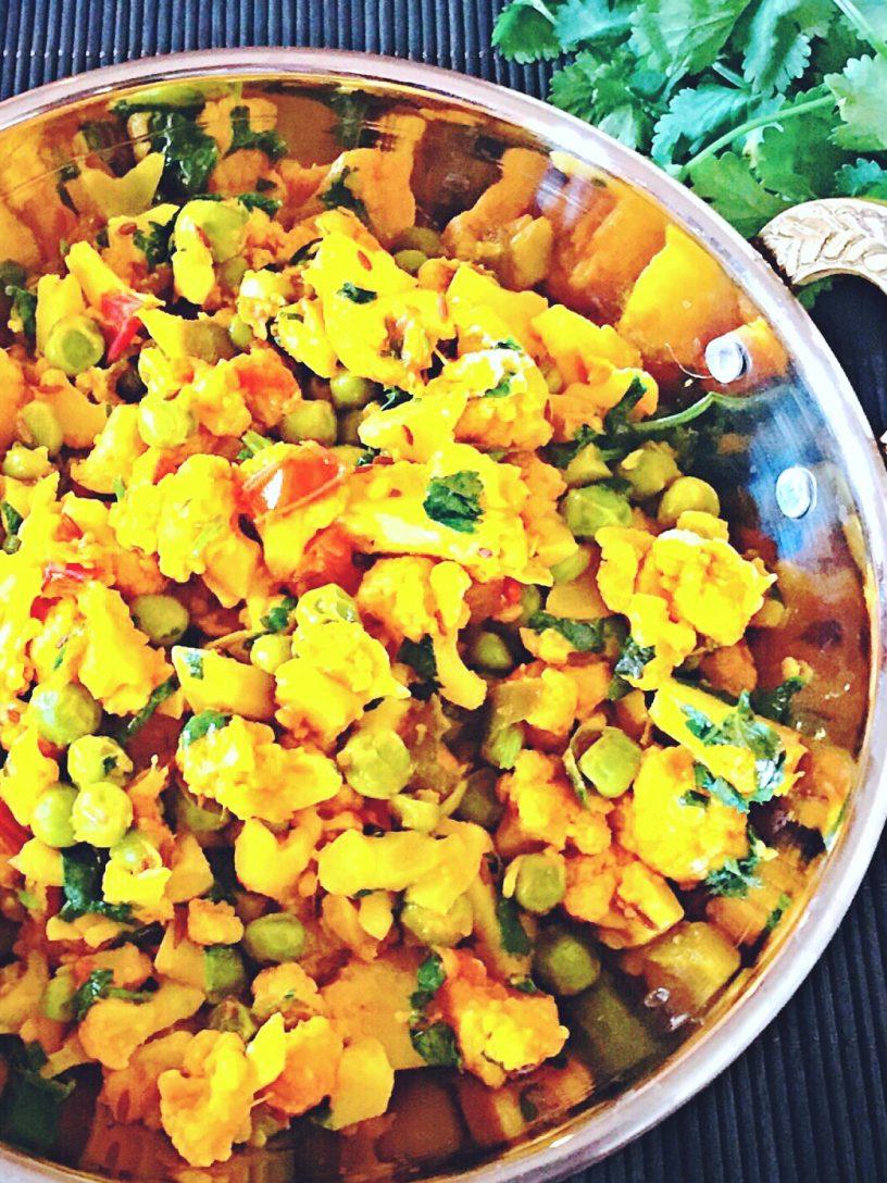 Cauliflower with Peas