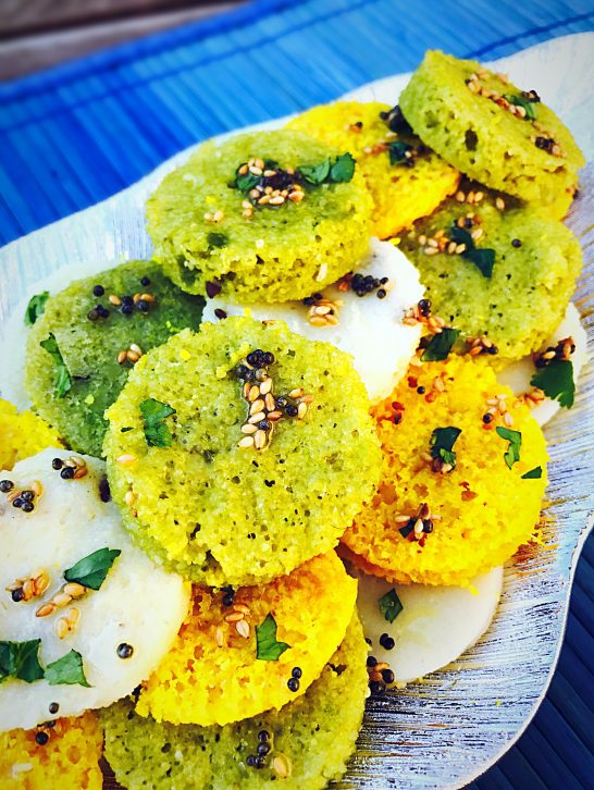 Tri-Colour Dhokla