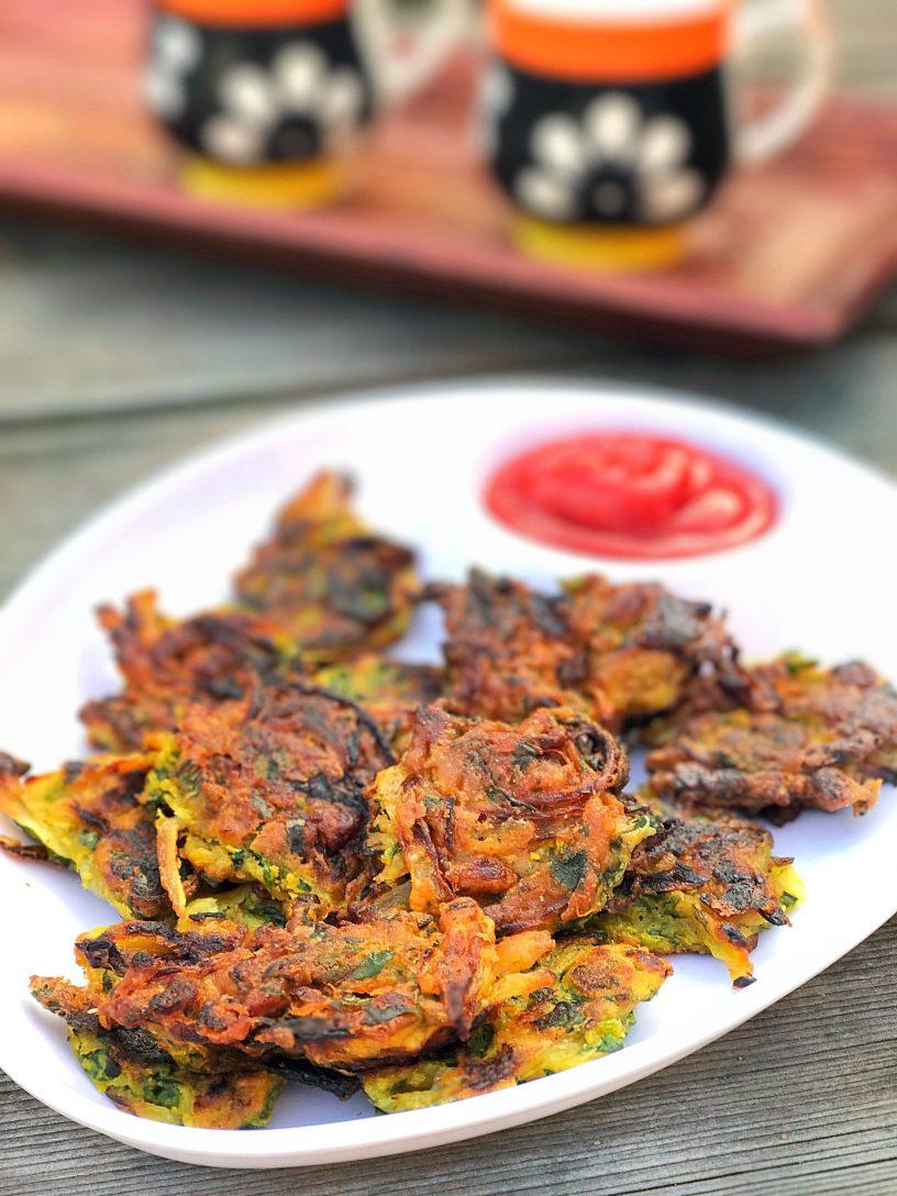 Onion Bhajiya (Non-Fried)