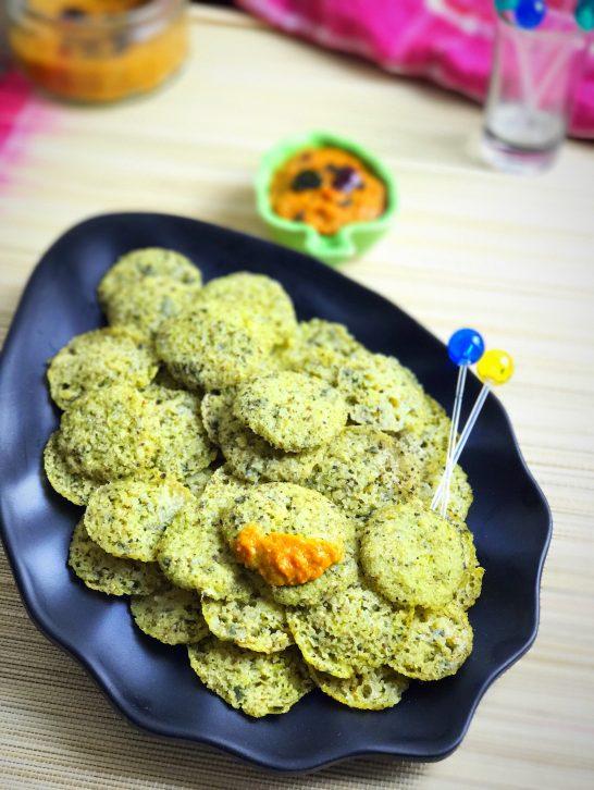 Spinach & Mung Idli Bites