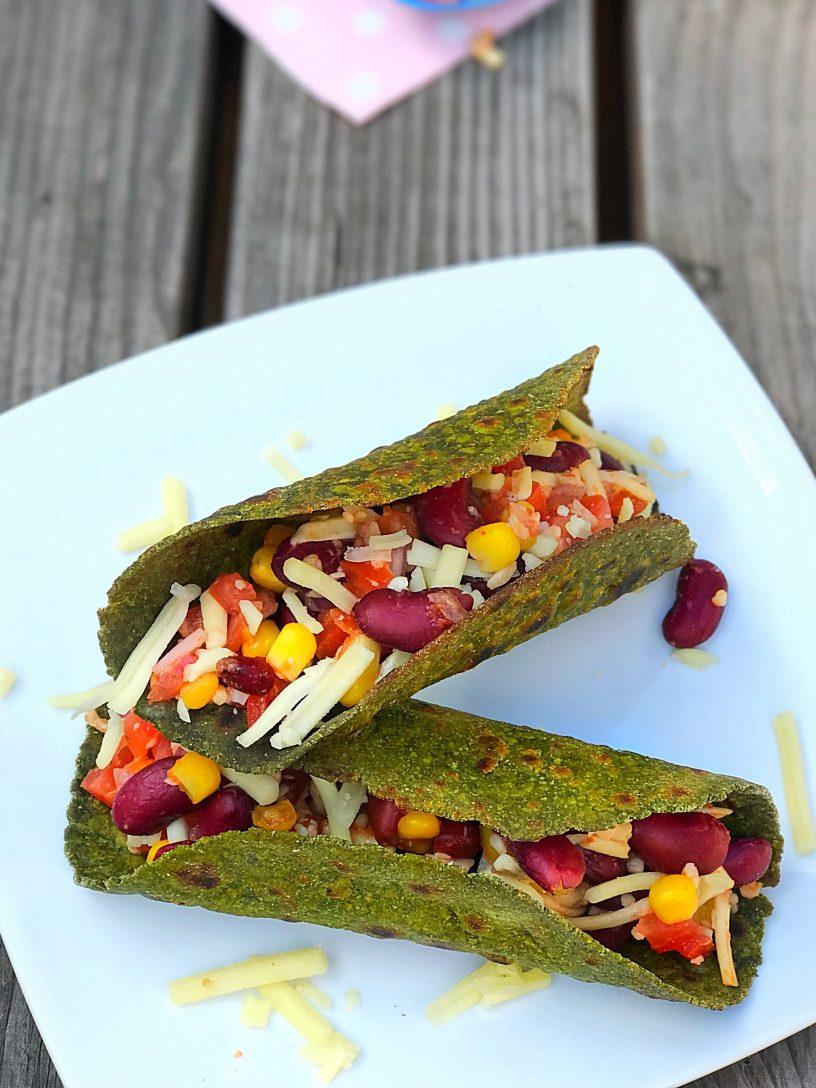Multigrain Spinach Tacos