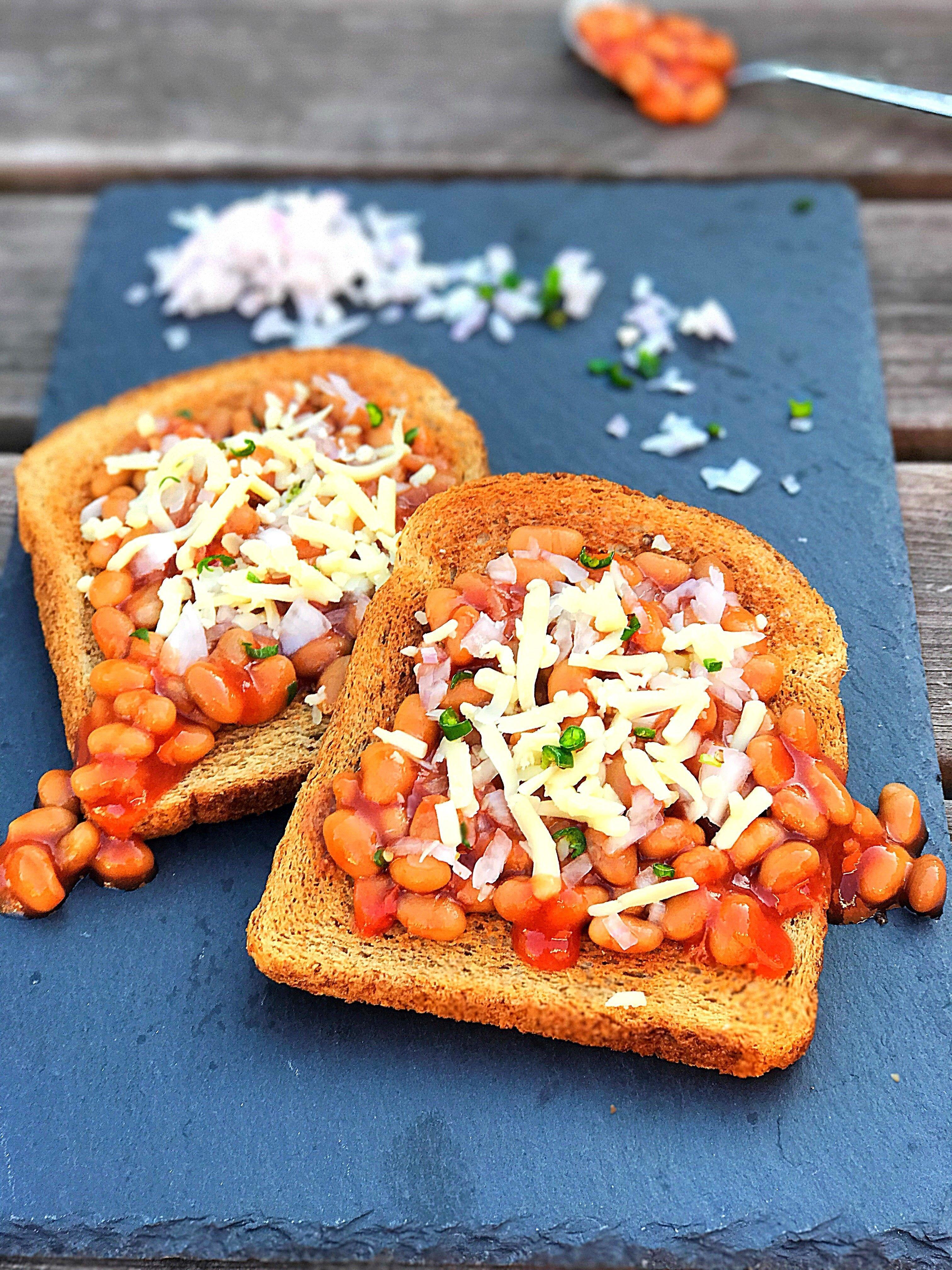 Baked Beans Toast Tanu S Recipes
