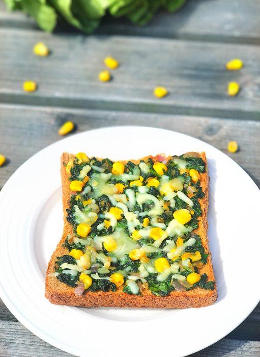 Spinach & Sweetcorn Toast