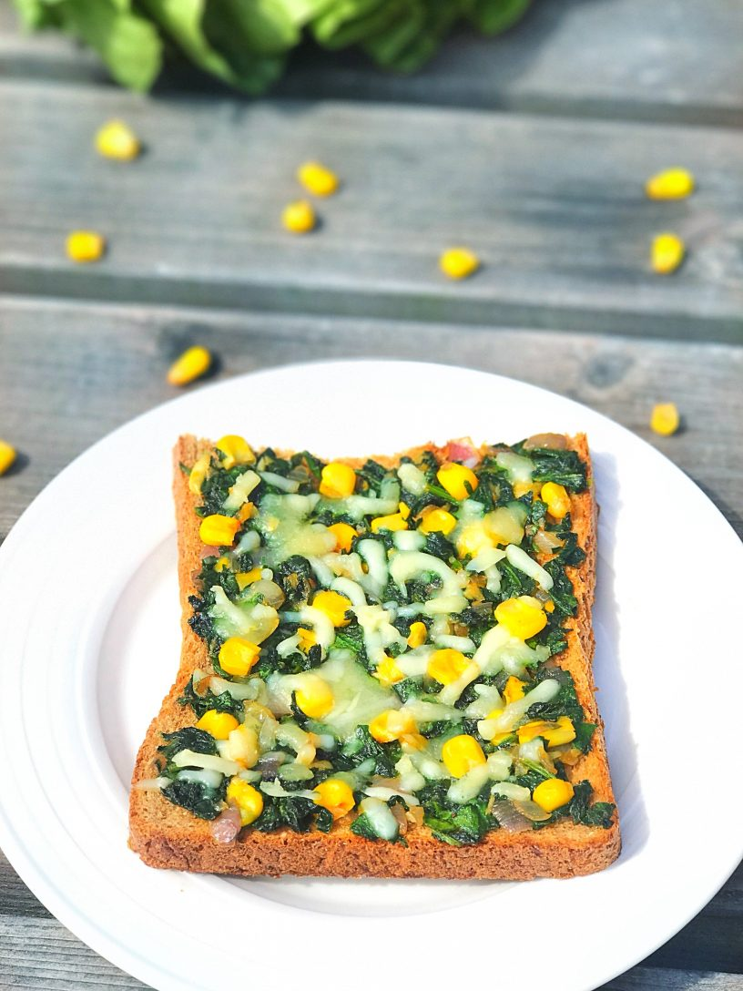 Spinach & Sweetcorn Toast
