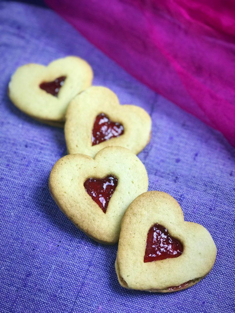 Jam Heart Cookies