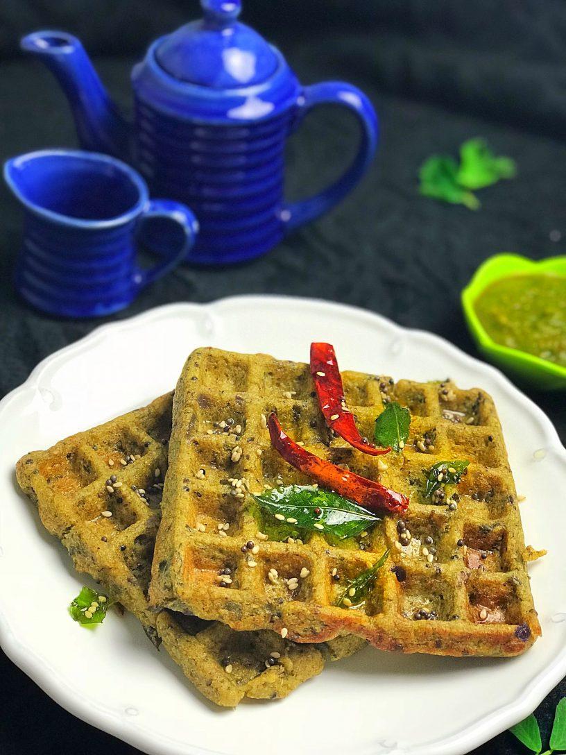 Mung & Methi Waffles